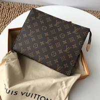 Wholesale floral wallets women resale online - 2019 X18 Louis Vuitton POCHETTE VOYAGE Clutch Women Leather Handbags Shoulder Bag Men Clutch Purse Satchel Wallet