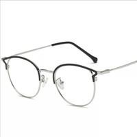 Wholesale metal myopia frame for sale - New Retro Cat Ears Metal Girls Glasses Frame Myopia Frames Vintage Eyeglasses Women Elegant Hot Sale