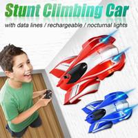 ingrosso giocattoli auto da parete-NUOVO Gravity Defying RC Stunt Wall Climbing Auto Telecomando anti gravità Soffitto auto da corsa Giocattoli elettrici per bambini