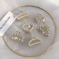 kleiner krawattenclip großhandel-Südkoreas neue Haarnadel-Haarnadel mit ins Netz roter Perle für Mädchen zum halben Binden von Haaren