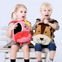 saco de animais de jardim zoológico venda por atacado-Animais De Pelúcia Mochilas Crianças Saco de Escola Mochila Zoo Dos Desenhos Animados Bonito Animal Escola Bakpack Mini Saco De Escola Para 1-6 T Crianças