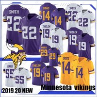 84 jersey venda por atacado-14 Stefon Diggs 19 Adam Thielen Minnesota Equipamentos Viking 8 Kirk primos 84 Randy Moss 55 Anthony Barr 82 Kyle Rudolph costurado new Jersey