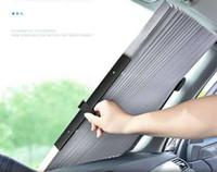 pegatina azul de 3m al por mayor-Pantalla retráctil automática para automóviles, protector solar, aislamiento térmico y parabrisas en verano