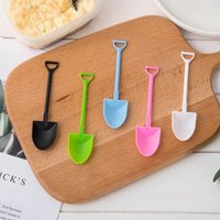 Wholesale ice cream cupcake tool resale online - Cake Cupcake Spoons Cute Shovel Shape Ice Cream Scoops Spoon Family Party Supply Dessert Tools Fast Shipping NO396