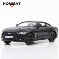 metall-druckgusswagen modell fahrzeug großhandel-HOMMAT Simulation 01.36 Ford Mustang 2015 5.0 Sport-Auto-Legierung Diecast Toy Vehicle Auto-Modell-Metal Collection Spielzeug für