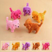 engraçado enchido animais venda por atacado-Brinquedos de Pelúcia cão de Moda Eletrônico Andando Latindo Brinquedo Música Engraçado de Energia Elétrica Fio Curto Cão Stuffed Animals Brinquedos GGA1620