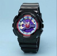 reloj de entrega al por mayor-2019 reloj popular de los niños choque de los deportes de dibujos animados LED Digital Reloj Reloj despertador Niños Niñas doble pantalla de pulsera Reloj Dropship Saat