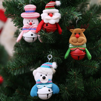 Wholesale deer pendants resale online - Christmas Decoration Pendants Xmas Tree Hanging Ornaments Snowman Deer Bear Cute Doll Santa Claus For Home Party Decor KO898787