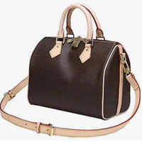 bolsos de cuero hobo al por mayor-bolso de lujo del diseñador bolso de cuero genuino speedy L flor boston bolsos de moda mujer bolsos de diseño bolso de bolso rápido