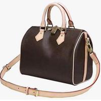 дизайнерский бостон мешок оптовых-Роскошная дизайнерская сумочка из натуральной кожи Speedy L Flower Boston Модные женские сумки Дизайнерские сумки Speedy