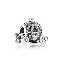 ingrosso perline per pandora-Autentico argento 925 zucca auto Charms Logo scatola originale per Pandora Bracciale Charms perline europee per creazione di gioielli