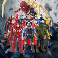 Wholesale frozen dolls for sale - Group buy Marvel Toys The Avenger Endgame CM Super Hero Thor Captain Thanos Wolverine Spider Man Iron Man Action Figure Toy Dolls