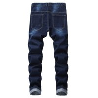 винтажная одежда из хип-хопа оптовых-FeiTong Jeans Men clothes 2018 Jeans Male Printed Denim Cotton Vintage Wash Hip Hop Work Trousers Pants