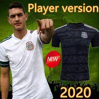 Wholesale chicharito mexico shirt for sale - Group buy 2020 Player Version Mexico Soccer Jersey National mexico Away White Black CHICHARITO LOZANO GUARDADO CARLOS VELA RAUL Football Shirts