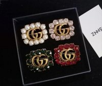Wholesale pearls crystal brooch pins for sale - Group buy Hot new Korean letter brooch female sweater coat brooch four leaf clover pearl with pin shawl accessories Korea012