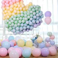 aufblasbare ballonversorgung großhandel-100 stücke Makronen Candy Pastell Latex Luftballons 10 zoll Luftballons für Geburtstagsfeier Aufblasbare Luftballons Bälle Hochzeit Dekoration Partei Liefert