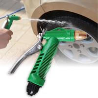 pistola de agua envío gratis al por mayor-Vehemo Car Wash Water Gun Presión de alto voltaje Copper Gun Head Lavadora de autos 4 Modelos de trabajo Automóviles Lavadora Herramientas Envío gratis