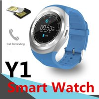 Wholesale sim card watch cell online – Y1 Smart Watchs for Android Smartwatch Samsung Cell Phone Intelligent Watch Bluetooth SIM Card Camera with Retail Package Factory Outlet DHL