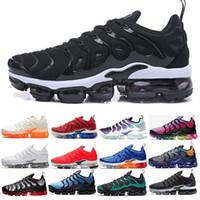 zapatos de estilo de los hombres reales al por mayor-Nike Vapormax TN PLUS air max New Style 2018 Sales Top Quality HOMBRES TN RUNNING SHOES CESTA PARA NIÑAS REQUIN MALLA TRANSPIRABLE CHAUSSURES HoMMe Zapatillaes TN ShOes