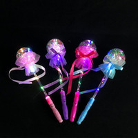 Wholesale big ball fairy lights resale online - LED Light Up Princess Magic Wand Party Favors Crystal Ball Shaped Stick Cute Fairy Light Magic Wand Sticks Kids Girls Toys