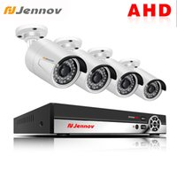 güvenlik hdd toptan satış-Jennov 4CH AHD Kamera 1080 P 2MP HD Güvenlik Kamera Sistemi IP Video Gözetim Ev Video İzleme DVR HDD Için CCTV Için