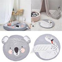 bebek odası yatak takımı toptan satış-Bebek Hayvan Baskı Oyun Paspaslar Çocuk Emekleme Halı Zemin Halı Bebek Yatak Tavşan Battaniye Pamuk Oyun Pedi Çocuk Odası Mat 95 cm J190508