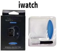 película protectora al por mayor-Cuerpo completo Protect Touch Nano iwatch Liquid Glue Tempered Glass 38mm 42mm 40mm 44mm para Apple Watch Series 1 2 3 4 Con película de luz UV