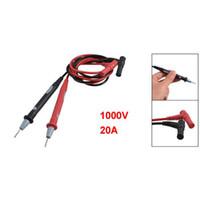 cabo de teste do multímetro venda por atacado-Ponta de prova do cabo da ligação de teste do multímetro digital 1000V 20A preto vermelho