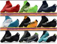 tacos de fútbol de alta calidad al por mayor-Nuevo Original High Tobillo Botas de fútbol Hypervenom Phantom Iii Df Fg Acc Tacos de fútbol Hypervenomx Proximo Tf Ic Zapatos de fútbol para interiores Turf