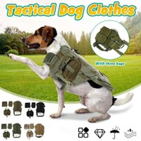 Wholesale led dog clothes for sale - Group buy Tactical Dog Clothes Harness Working Dog Vest Nylon Bungee Leash Lead Training Running For Medium Large Dogs Shepherd