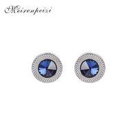 конусный конус оптовых-blue Crystal Cone Cufflinks Men Classic  blue Prismatic Cuff Button Designer High Quality Men's Shirt Taper Cuff Links