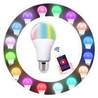 lâmpada sombra vidro fosco venda por atacado-Frete grátis venda Quente 2 pacote vida inteligente Wifi Lâmpada LED 12 v lâmpada E27 E27 Inteligente RGBW Branco Fresco Quente Branco Lâmpada Led Compitable Luz Com Alexa