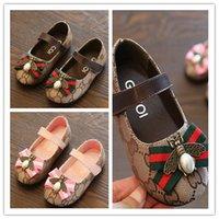 kore tarzı ayakkabı kızları toptan satış-Bahar Yaz Yeni Moda Çocuk ayakkabıları Çocuklar Rahat Tarzı Ayakkabı Kore Dikiş Desen Ayakkabı Bebek kızlar Için Loafer
