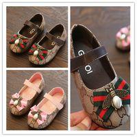 sandales talons mignonnes talons talons achat en gros de-Printemps Eté Nouvelle Mode Enfants Chaussures Enfants Style Casual Chaussures Korean Motif Couture Chaussures Pour Bébé filles Mocassins