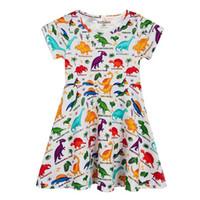 süße weihnachts tiere großhandel-Weihnachten Kinder Tier Einhorn Kleid Applikationen Kleidung Mädchen Süßes Mädchen Jersey Kleid 100% Baumwolle Designer Kleid für Kinder Kleidung