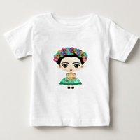 ingrosso frida kahlo tees-Magliette per bambini Frida Kahlo Design Magliette per ragazzi / ragazze Estate Bianche Magliette per bambini / bambino Magliette a manica corta T-shirt in cotone
