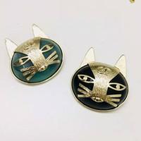 broches de gato do ouro venda por atacado-Europa e américa popular moda pinos broche de ouro amarelo chapeado gatinho broches pinos para meninas mulheres agradável presente