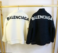 ingrosso seni naturali pieni-19ss Regno Unito e Stati Uniti d'America di lusso strada donne in pelliccia sintetica all'aperto antivento ed impermeabile importata superiore in pelle di agnello bianco per le donne outwear