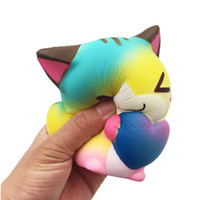 Wholesale food key rings for sale - Group buy Heart Cat Squishiy Toys Simulation Food For Key Ring Phone Chain Toys Gifts All Kinds Of Style