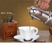 máquinas mocha venda por atacado-Excelente grosso italiano 4 xícaras máquina de café fabricantes concentrados Moca café potes casa extração de aço inoxidável Mocha cafeteira