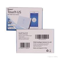 kontrollschalter berühren großhandel-Sonoff Touch-US EU-Stecker-Wand Wifi Lichtschalter Glas-Verkleidungs-Noten-LED-Leuchten Schalter für Smart Home Wireless Remote Control-Schalter