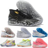 "Where To Buy Nike KD 11 ""BHM"" BlackWhite White Marble Basketball Shoes Free Shipping"