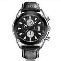 аналоговые часы даты дня оптовых-LIANDU Mens Wristwatch  Fashion Leather Glass Quartz Analog relogio masculino quartz watch men day date mens watches