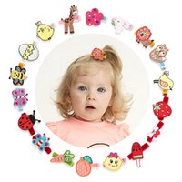 lindas niñas mariposas al por mayor-Baby BB clips de dibujos animados lindo niños barrettes diseñador niñas pinzas para el cabello bordado mariposa niñas hairclips accesorios para el cabello para niñas A5879