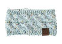 ingrosso la fascia dei capelli della treccia-moda Hairbands CC accessori per capelli per maglieria da donna in lana in fibra di acrilico fascia intrecciata testa calda copricapo
