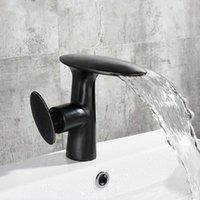 ingrosso miscelatore in ottone-Nuovi rubinetti d'ottone del bagno di arrivo rubinetti caldi della cascata del rubinetto del miscelatore della cascata bianco dipinto / miscelatore nero 1605