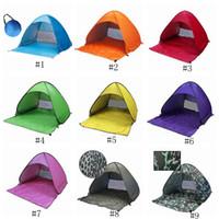 set de camping carpa al por mayor-Carpas de verano Refugios para acampar al aire libre para 2-3 personas Carpa de protección UV para la playa configura automáticamente las carpas de playa ZZA231