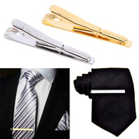 мужские зажимы для галстука оптовых-Fashion Delicate Simple Mens Suit Silver Gold Metal Tie Clips Trendy Unique Men Gifts Ties Collar Pin Jewelry