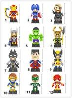 intelligenzblöcke großhandel-LOZ bausteine Marvel Super Heroes Diamant blocks modellieren die Avengers 3D puzzle kinder spielzeug lernspielzeug intelligenz DIY block