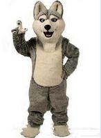 yetişkin köpek takım elbisesi kostümü toptan satış-2019Hot satış Husky Köpek Maskot Kostüm Yetişkin Karikatür Karakter Mascota Mascotte Kıyafet Suit Fantezi Elbise Parti Karnaval Kostüm